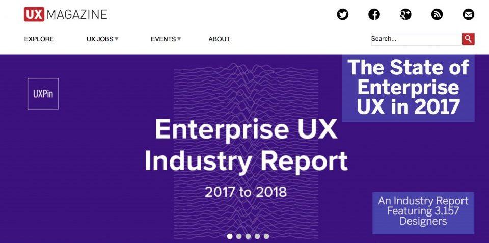 UX Magazine Homepage