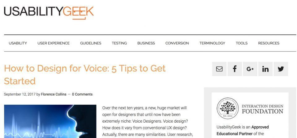 Usability Geek Homepage