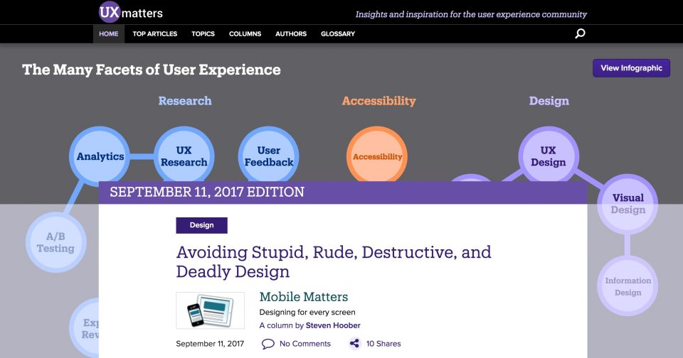 UX Matters Homepage