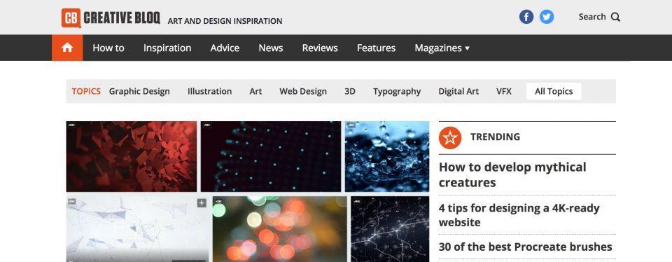 Creative Bloq homepage